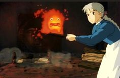howl's moving castle, Crazy woman with a shovel!