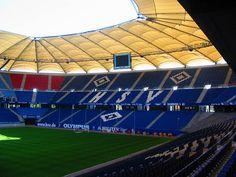 Blick auf die Südtribüne im HSV Stadion