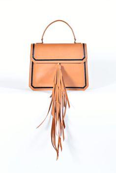 "Maria Lamanna's ""WHYNOT"" Satchel Bag in Tan"
