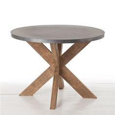 60 inch round, solid-wood farmhouse table with pedestal base in ...
