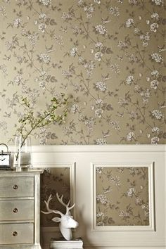 Paste the wall paper from Next £25 Pattern repeat 53 cm. Half drop. Each roll is 10m long and 52 cm wide