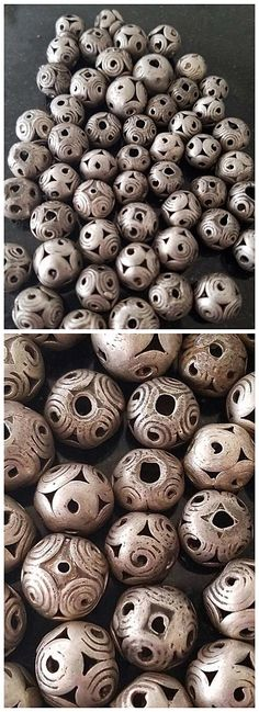 Antique Afghan coin silver beads.