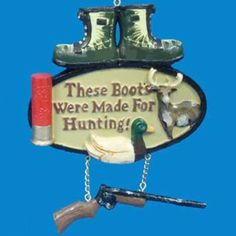 "Amazon.com - 4"" #Outdoorsman Hunting Boots and Rifle Phrase #Christmas #Ornament"