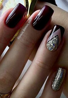 - # Nails - www. – # Nails www. Classy Nails, Stylish Nails, Fancy Nails, Trendy Nails, Diy Nails, Cute Nails, Nail Nail, Gel Manicure, Fabulous Nails