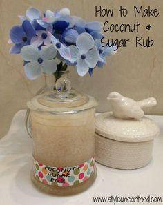 How to Make Coconut and Sugar Rub Coconut, Jar, How To Make, Beauty, Jars, Cosmetology, Glass
