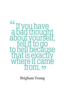 I don't know if Brigham Young actually said this, but I'm going to pretend he did. Because it's awesome.