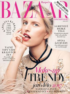 Karolina Kurkova featured on the Harper's Bazaar Czech cover from May 2017