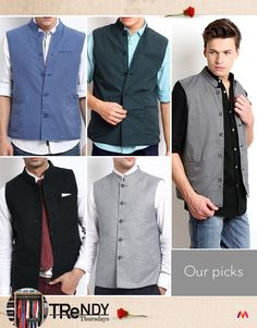 The Nehru jacket that became a rage during the 60s Mod movement has been rediscovered by Bollywood hunks in recent times. It is a great alternative to the blazer, for those who want to change it up and embrace the desi chic style. Indian men like to wear it with kurtas to add colour. Since it is worn for formal and semi-formal occasions, when you wear it with jeans, wear a pair of good leather shoes to go with it.