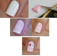 DIY Nail Art – Cotton Candy | Beauty Lovers