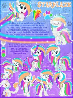 Starblaze OC MLP Ultimate Reference Sheet No 2 by MLP-Starblaze.deviantart.com on @DeviantArt