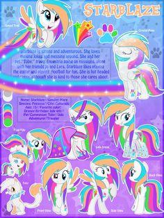 Starblaze OC MLP Ultimate Reference Sheet No 2 by MLP-Starblaze.deviantart.com on @DeviantArt