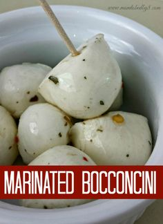 Marinated bocconcini – or small balls of fresh mozzarella cheese – make a wonderful appetizer and are wonderful as part of an anti-pasta tray. Marinated Bocconcini Ingredients: ½ pint of bocconcini ¼ cup olive oil Zest of 1 lemon 3 fresh basil leaves, minced ¼ teaspoon red pepper flakes ½ teaspoon kosher salt 1 medium …