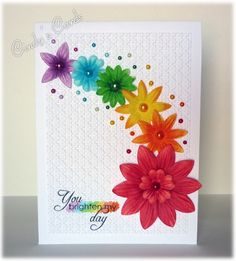 Rainbow of Flowers by frenziedstamper - Cards and Paper Crafts at Splitcoaststampers