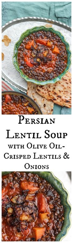 This Persian Lentil Soup with Olive Oil-Crisped Lentils & Onions is seriously the only lentil soup recipe you need. Trust.