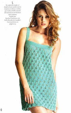 Crochetemoda: Vestido Verde de Crochet ~ Diagram/Chart Only ~ Not in English