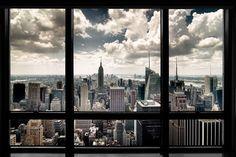 New York - Widok z okna - plakat   Sklep ePlakaty.pl