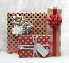 Polka dot gift wrap
