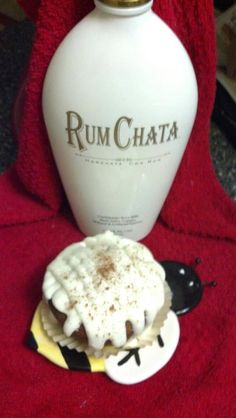 Say hello to my new friend... Rum Chata. Cinnamon cupcake with Cream Cheese Rum Chata Icing @Jackie Gray
