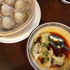 Perfect meal. #ShaoLongBao & #ChilliWonTon.  Get me this if you want to make me really #happy . #dumpling by pierrickboyer