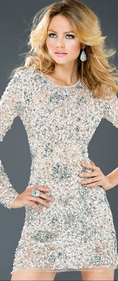 Jovani ● Cocktail/Party Dress With Pearls & Stones➰
