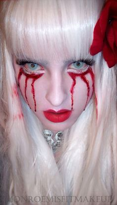 Mark Ryden inspired theatrical halloween make up #makeup #art #sfx