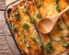 Gratin d'aubergines sur purée au chèvre : http://www.fourchette-et-bikini.fr/recettes/recettes-minceur/gratin-daubergines-sur-puree-au-chevre.html