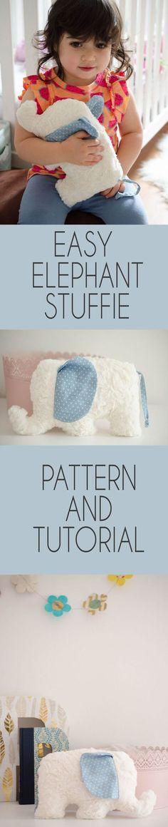 Sew Jersey Mama | Elephant Stuffie Sewing Pattern and Tutorial | Sewing Pattern | Easy Sewing Project | Sewing for Babies | Sewing for Baby | Baby Gift DIY