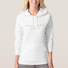 Mama EST 2015 Hoodie - birthday gifts party celebration custom gift ideas diy
