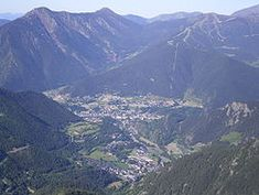 The towns of La Massana and Ordino (in the foreground) viewed from the peak of Casamanya m) Cities In Europe, Other Countries, Andorra, Sea Level, Capital City, Grand Canyon, Spanish, Mountains, World