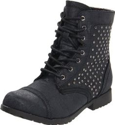 Kensie Girl Mid Shaft Combat Style Boot Little Kid//Big Kid