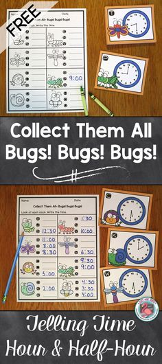 Fern Smith\u0027s FREE Spring Time To The Hour Task Cards and Recording