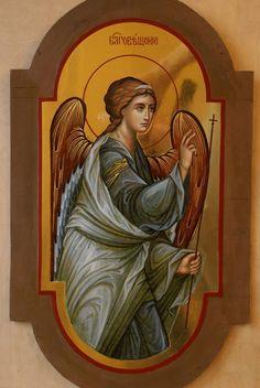 Byzantine Art, Byzantine Icons, Order Of Angels, Archangel Gabriel, Biblical Art, Orthodox Icons, Mosaic, Colours, Painting