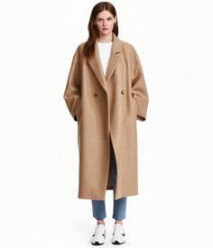 Oversized Wool Coat | Beige | Ladies | H&M US