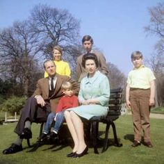 The Royal Family in the grounds of Frogmore House, Windsor, Berkshire. Left to right: Duke of Edinburgh, Princess Anne, Prince Edward, Queen Elizabeth II, Prince Charles (behind the Queen) and Prince Andrew