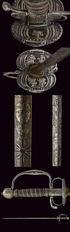 A beautiful small-sword with important blade, provenance: Germany dating: 18th Century.