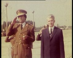 Ceausescu and Colonel Gaddafi Socialist State, Socialism, Warsaw Pact, Central And Eastern Europe, Soviet Union, Romania, Captain Hat, Collection