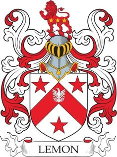 Lemon Family Crest and Coat of Arms