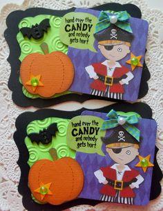 Handmade Halloween EmbellishmentsSet Of 2Skeleton by sarasscrappin, $5.49