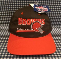 93700258a NWT Vintage Cleveland Browns Adjustable Fit SnapBack Hat Twins Enterprises  NFL