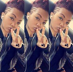 Hair | Mohawk | designs | shaved hair designs | hairstyles for black women…