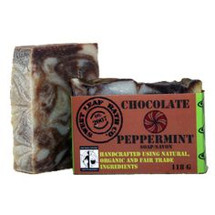 Fair Trade Organic Soap - Chocolate Peppermint // Almost good enough to eat!