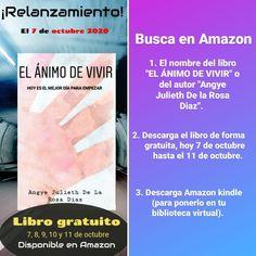 """PASO A PASO: Para buscar directamente en Amazon.🤓 ✨LIBRO """"EL ÁNIMO DE VIVIR""""✨ Paso 1 y 2 optener el libro. Paso 3 poder tener a la mano el libro en tu biblioteca virtual. Searching, Live, Step By Step, Author, Book"""