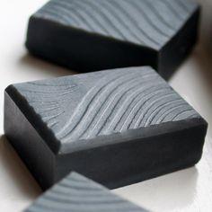 textured soap - Cardamom & Charcoal handmade soap
