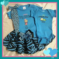 BIG SISTER Little Brother Shirt ONESIE by myembroideryboutique, $49.00