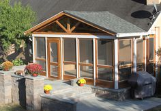 Vixen Hill Modular Screened Porch System can be installed in a single day. Use our online software to design a new porch or retrofit an existing one. Porch Kits, Porch House Plans, House With Porch, Porch Ideas, Enclosed Porches, Screened In Porch, Porch Swing, Screen Porch Systems, Porch Enclosures