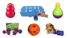 Puzzle toys!  The best way to keep your pooch busy instead of bored!