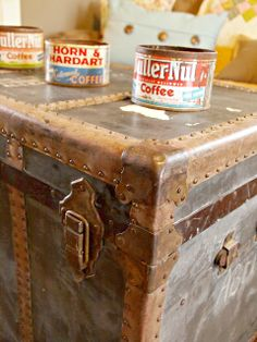 The Painted Home: { Vintage Treasure Chest }
