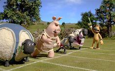 London 2012 Olympics: Shaun the Sheep Olympic Championsheeps - Telegraph Sheep Cartoon, Shaun The Sheep, Cute Sheep, Adult Cartoons, Great British, Olympics, Lol, London, Funny