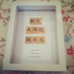 Mini Vintage Scrabble Art. From £17. x