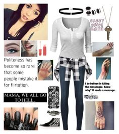 """""""Mama, we all go to hell"""" by emmcg915 ❤ liked on Polyvore featuring Forever 21, J Brand, Doublju, Vans, Amanda Rose Collection, The Giving Keys and Humör"""
